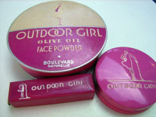 1920s Outdoor Girl powder, rouge, lipstick