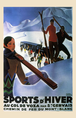 Roger Broders Winter Sports Poster