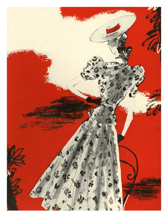 Pretty 1930s Frock with Hat