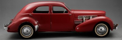Red 1937 Cord Westchester Sedan
