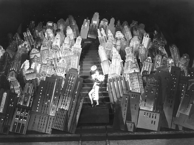 Set of the Movie 42nd Street, Showing Skyscrapers
