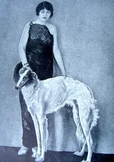 Queen Alexandra with Borzoi 1935