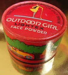 Art Deco powder box by Outdoor Girl