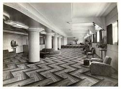 Art deco zigzag patterned floor