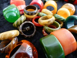 Colourful Bakelite Rings
