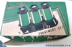 Original Box Marquis Condiment Set