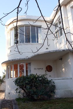 Art Deco White Streamlined House