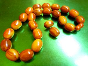 Marbled Caramel Bakelite Beads