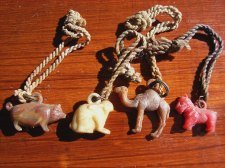 Earlly Celluloid Animal Charms