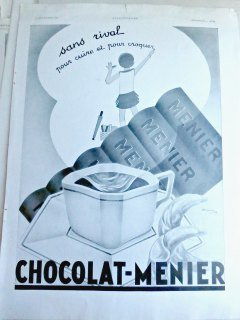 Chocolate Ad from French Magazine L'Illustration