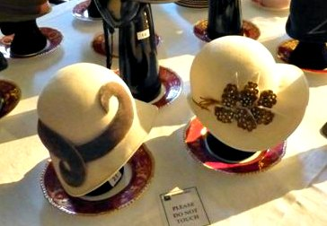 Cream Cloche Hats at the Miss Fisher Exhibition