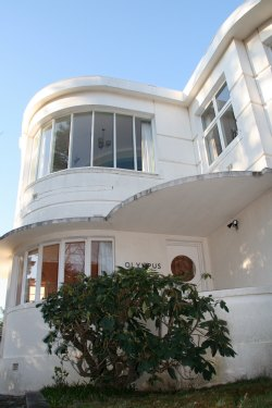 Art Deco Streamlined Architecture - White Curved House