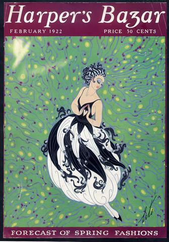 Erte Harpers Bazaar Cover 1922