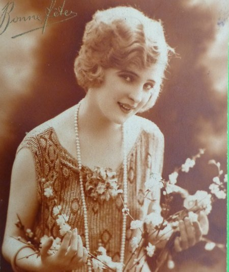 Girl in Flapper Dress and Beads