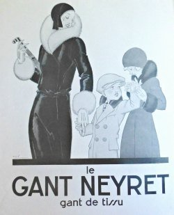 1920s Glove Advertisement from L'Illustration