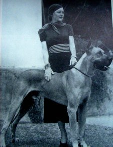 1930s Lady with Great Dane