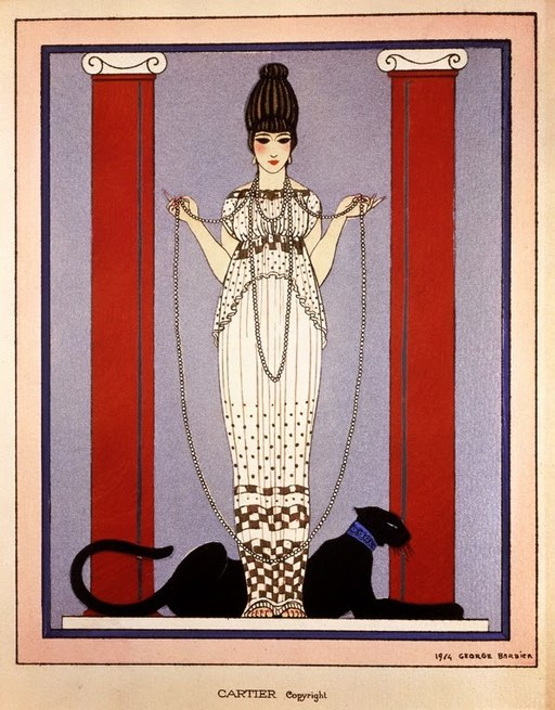 Art Deco Advertisement for Cartier by Georges Barbier