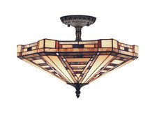 American Art chandelier by Landmark Lighting