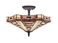 American Art chandelier by Landmark Lighting