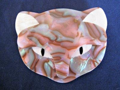 Lea Stein Cat Head Pink