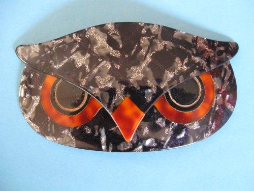 Lea Stein Owl Brooch