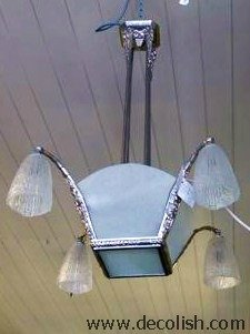 Art Deco Hanging Light Fitting