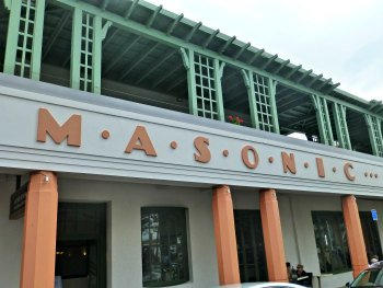 Front of the Masonic Hotel, Napier