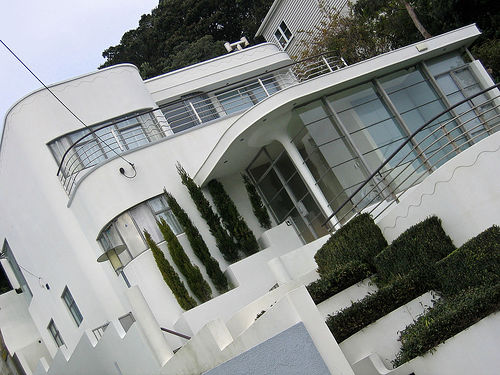 Art Deco House - New Zealand - White