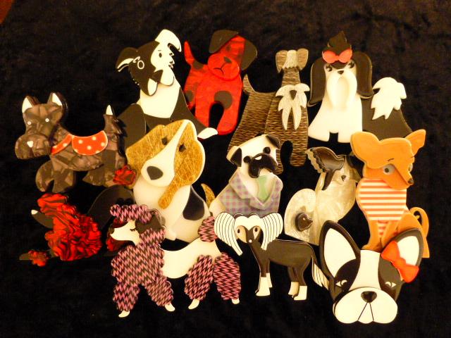 Erstwilder Jewellery - Dog brooches