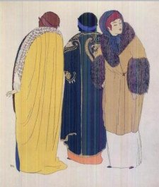 Evening Coats by Paul Poiret, Illustrated by Paul Iribe in Les Robes de Paul Poiret,1908