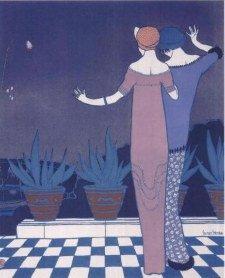 Fashion by Paul Poiret,Illustrated by Georges Lepape in Les Choses de Paul Poiret,1911