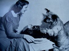 Scottie Dog with Typewriter