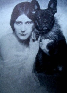 Vera Salotti with her French Bulldog, 1935