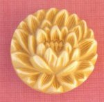 Carved Yellow Celluloid Button