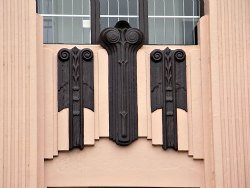 Art Deco Architectural Detail on a Bank in Richmond, NSW, Australia
