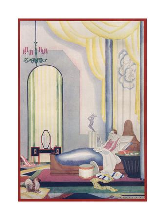 A Decadent Art Deco Bedroom by Pjzeska