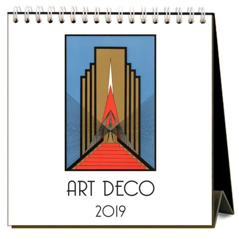 Art Deco Desk Calendar