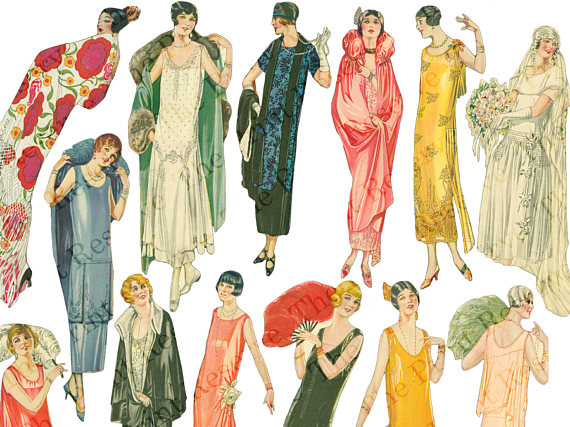 Print of Art Deco Fashions