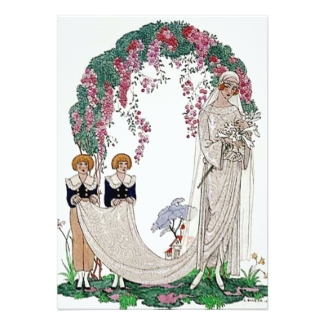 Floral Bridal Arch or Bower with 1920s Bride