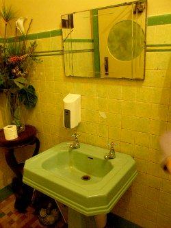 Green Art Deco Sink