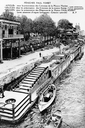 Paul Poiret's Barges on the Seine