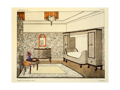 Art Deco Young Girls Bedroom by F. Nathan