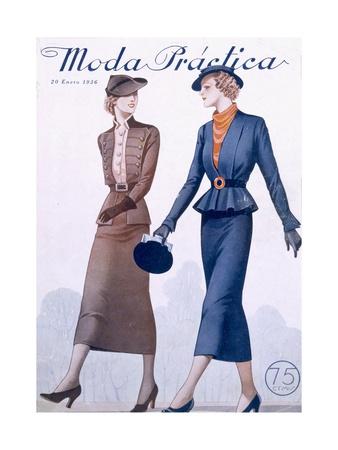 Cover of Moda Practica Magazine 1936