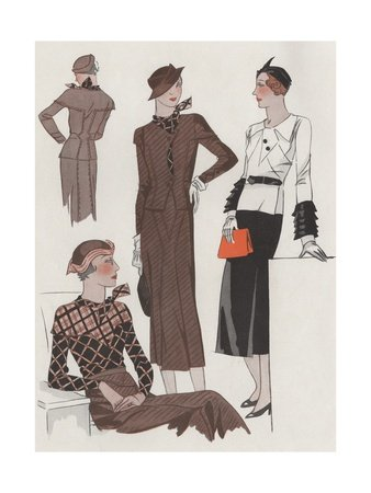 1930s Dresses, Jackets and Hats