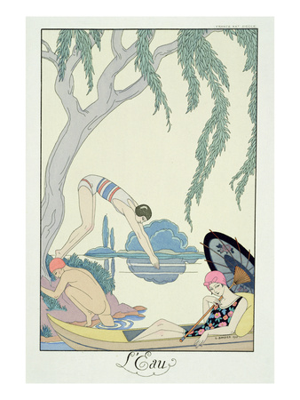 Georges Barbier - Pochoir Print - Water 1925