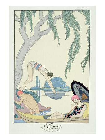 Georges Barbier - Pochoir Print - Water 1925