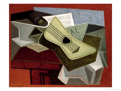 Juan Gris - Guitar and Newspaper 1925
