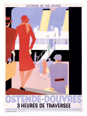 Poster for Ostend-Dover Ferry by Leo Marfurt