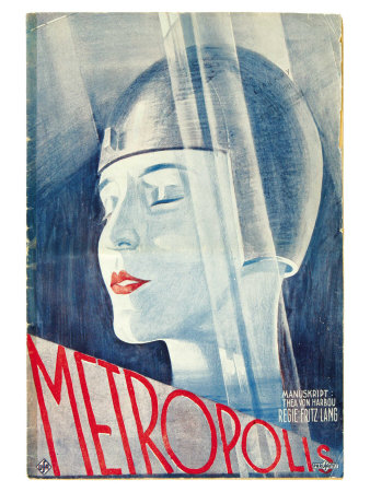 Metropolis Movie Poster - Woman in Helmet - 1926
