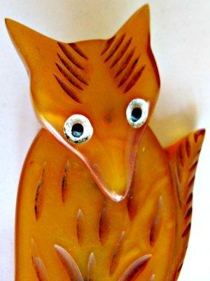 Bakelite Fox Brooch